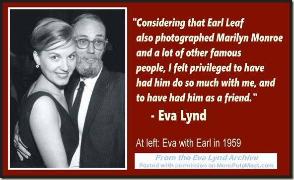 Eva Lynd & Earl Leaf, 1959