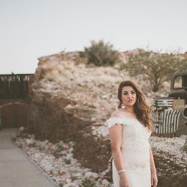 The quarry by Jaycee Reynolds - Wedding Bride ( bride, outdoor, wedding photography, wedding photographer, bridal portraits, outdoor photography, wedding, portrait,  )