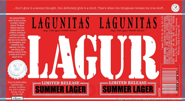Lagunitas Adding New Lugur Summer Lager Cans