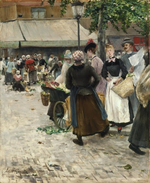 Norbert Goeneutte - The Flower Market