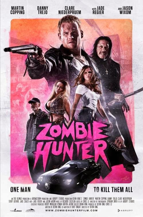 Poster Of English Movie Zombie Hunter (2013) Free Download Full New Hollywood Movie Watch Online At Alldownloads4u.Com