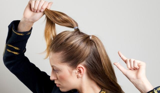 penteado com elástico