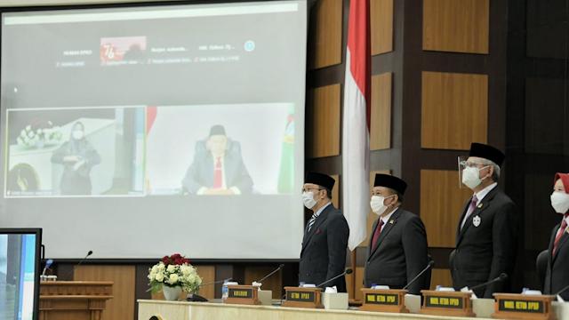 Sidang Paripurna DPRD Jawa Barat Mendengarkan Pidato Kenegaraan Presiden Republik Indonesia