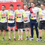 OIC - ENTSIMAGES.COM - Jason Merrells and Bloodwise runners at the  Virgin Money London Marathon on Blackheath in London, England. 24th April 2016 Photo Mobis Photos/OIC 0203 174 1069