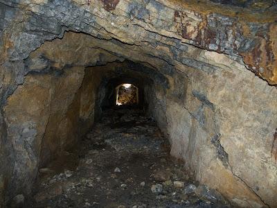 Interior de la mina Realidad o del Griell