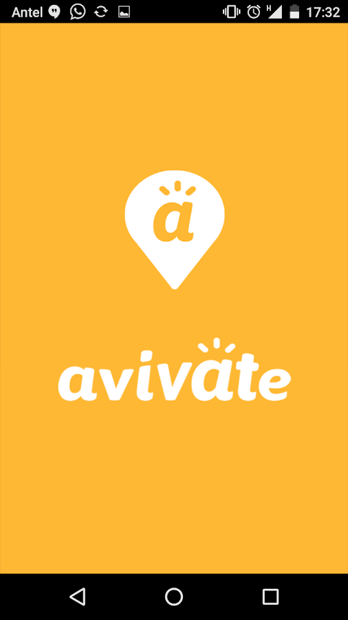 Avivate: captura de pantalla