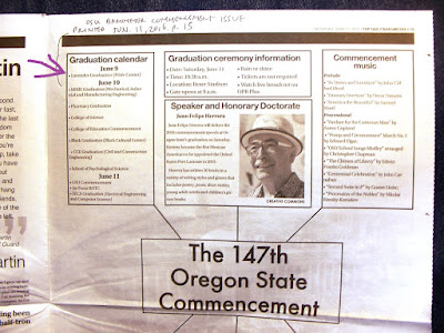 Lavender graduation in commencement program printed in Barometer Jun. 11, 2016, p. 15