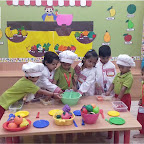 Healthy Fruit Salad Day Celebrated by Playgroup Evening Section at Witty World, Chikoowadi (2018-19)