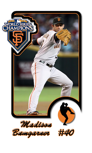 Madison Bumgarner SF Giants Baseball Card Android wallpaper by eyebeam