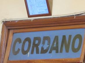 """Photo: """"Cordano"""" en vidrio Bar Restaurante Cordano Centro de Lima Mayo - 2014"""