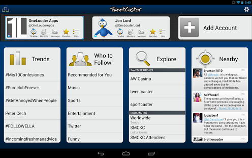 TweetCaster Pro for Twitter v8.5.2 for Android