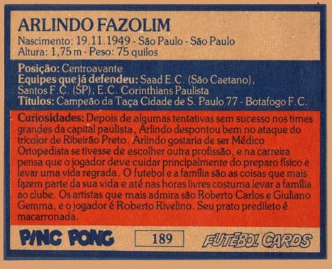 BFC (189) Arlindo CA