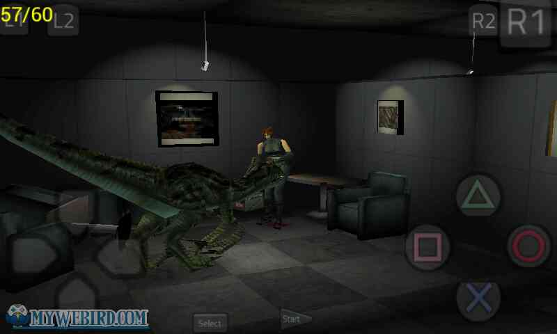 Shoot the raptor Dino Crisis Playstation