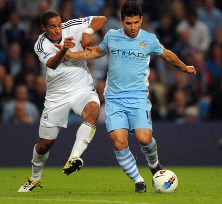Sergio Aguero, Manchester City - Swansea City