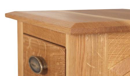 Custom Valencia Nightstand with Doors, Natural Quarter Sawn Oak