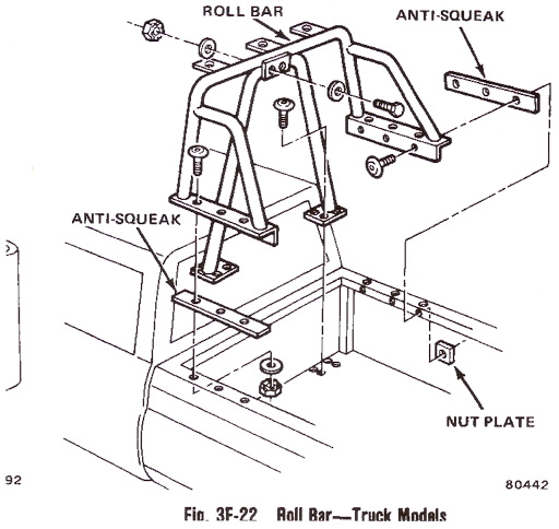 j10 roll bar international full size jeep association Cargo Jeep Roll Bars this is a drawing from the 1980 tsm it is a bit more substantial than just a light bar at least in my opinion