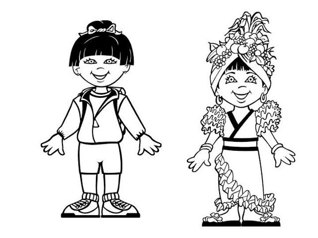 Dibujos De Las Misiones: PINTAR NIÑOS DEL MUNDO CON SUS BANDERAS