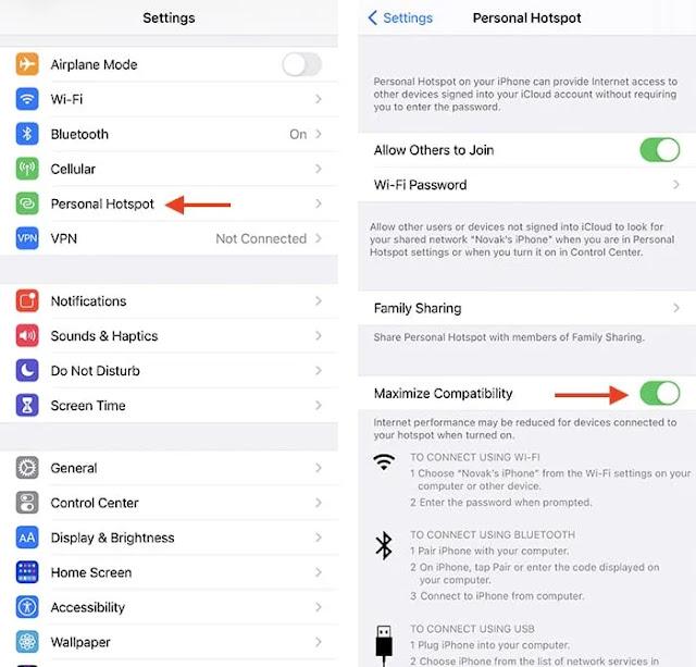 استكشاف أخطاء Iphone Wifi Hotspot وإصلاحه