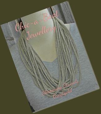 Shimering Strands Greygold necklace
