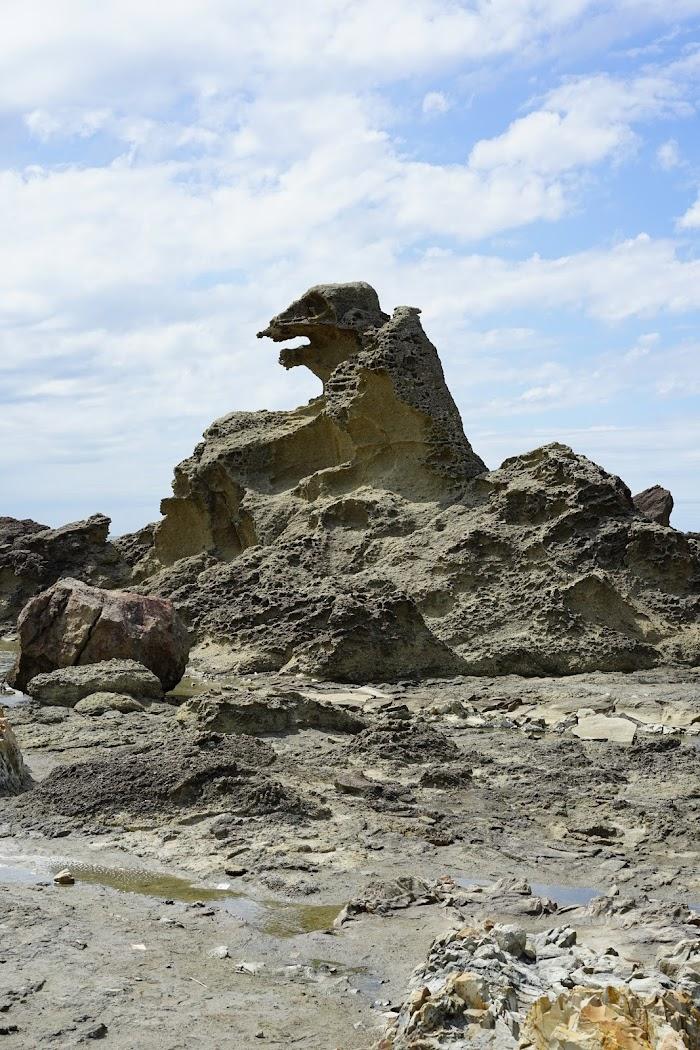 海に吼える自然の芸術 男鹿半島 ゴジラ岩