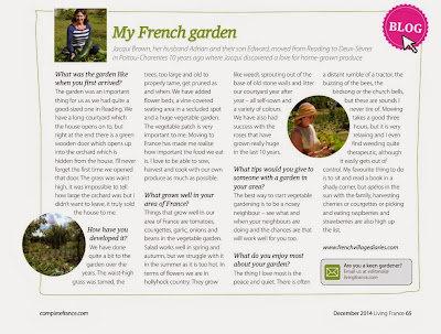 French Village Diaries My French Garden Living France Magazine feature December 2014