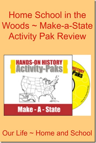 Home School in the Woods - Make-a-State Review