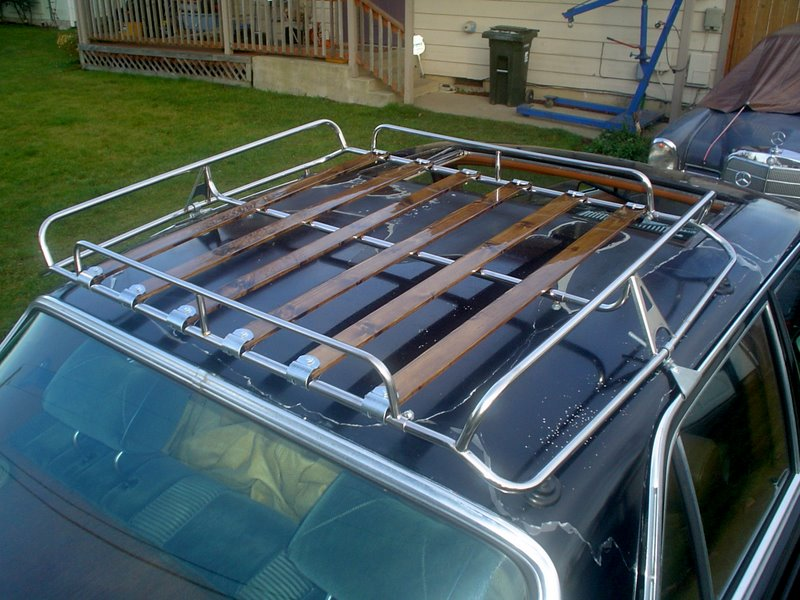 Wood Roof Rack Steel With Wood Slat Roof Rack For