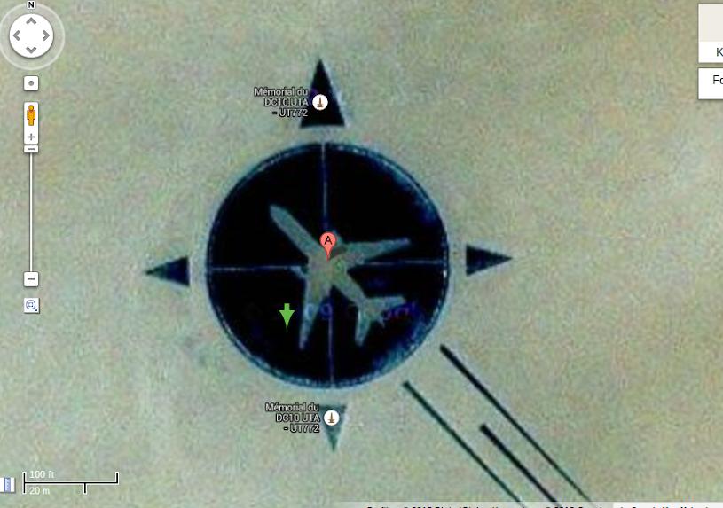 Google Maps Flug UTA 772