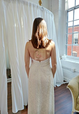 Mimi's Wedding Dress Back