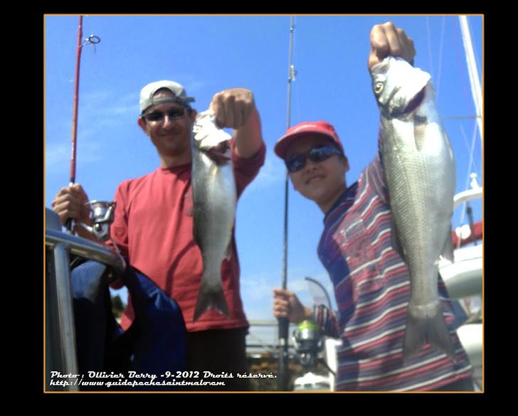 Bretagne chèque cadeau pêche en mer stage pêche du Bar aux leurres et appâts naturels initiation perfectionnement tout niveaux