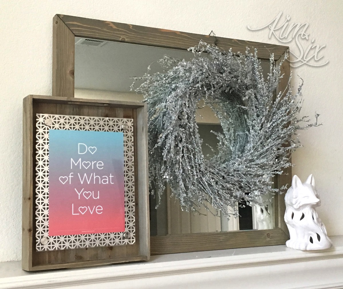 Make this pretty and modern floating frame. With perforated sheet metal and plexiglass, you can get a clean geometric look, or make it more rustic with the additional of reclaimed wood accents. Such a quick and easy project and a great way to display printables!