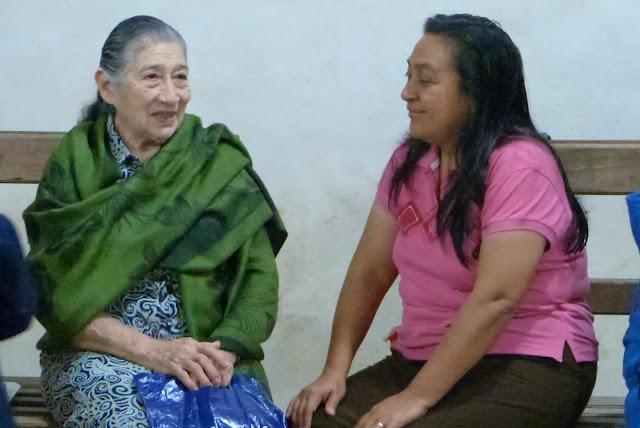 "Pastor Maria Jesus Salazar ""Hermana Chuchi"" visits with Pastor Rudy's wife"