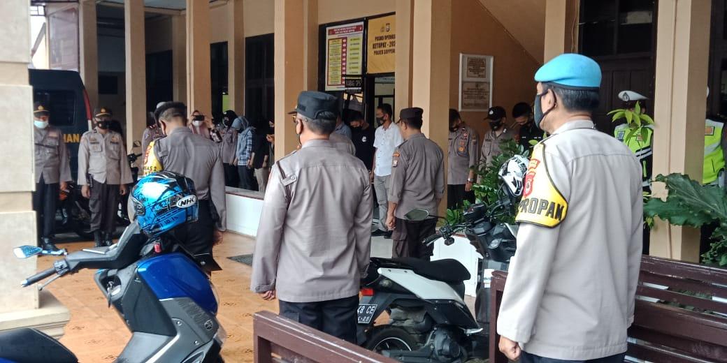 Apel On Call Bentuk Kesiap Siagaan Personil Polres Soppeng Dalam Menjaga Kamtibmas