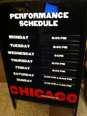 CHICAGOの看板