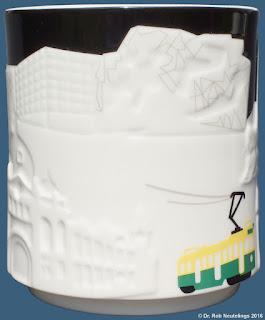 Melbourne Australia Starbucks Coffee relief mug