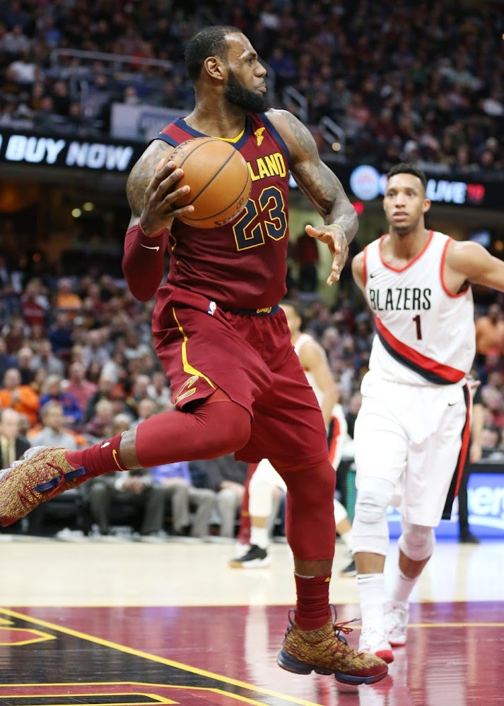 new style defa0 db06d LBJ Debuts His 20th Colorway of Nike LeBron 15 in Cavs Win ...