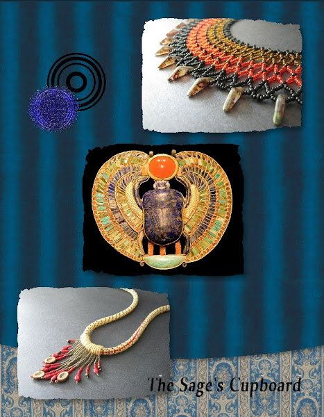 Egyptian Revival Collage with Blueberry Scrapbook Elements