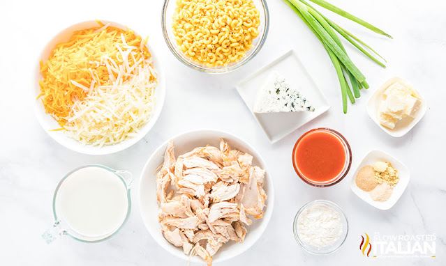 buffalo chicken mac and cheese ingredients