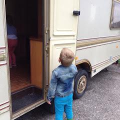 in onze caravan
