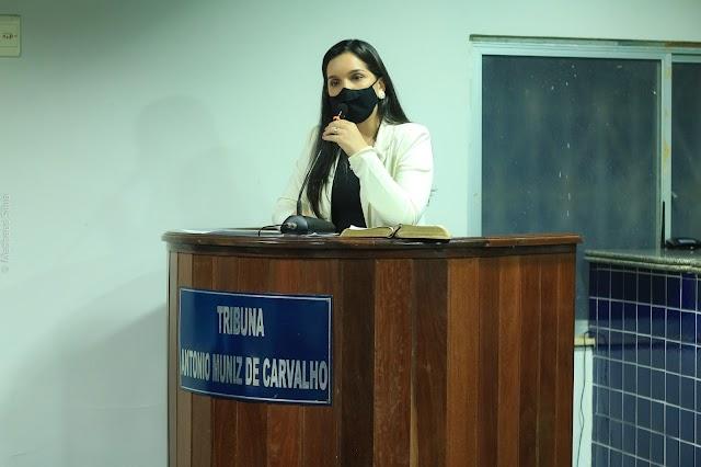 """""""Quero sim, a participação do povo no nosso mandato"""" - diz a vereadora Luiza Calvet na primeira sessão ordinária do ano de 2021"""