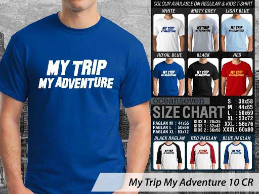 Kaos Wisata Indonesia My Trip My Adventure 10 distro ocean seven