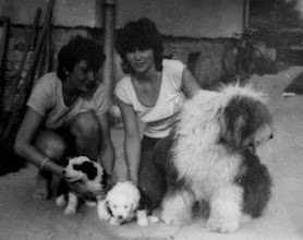 Photo: Hela and Dixie v Zatisi with puppies