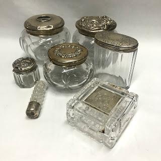 Sterling Silver & Glass Vanity Lot