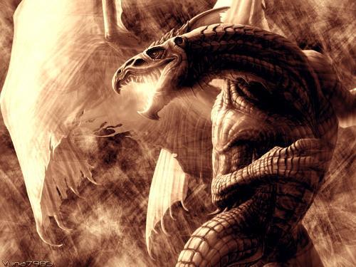Flying Great Dragon, Dragons