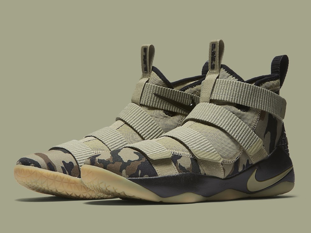 designer fashion a0829 f1ff7 ... Nike Adds the Mandatory Camo Look to the LeBron Soldier XI ...