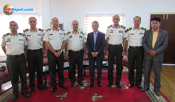 पुन:निर्माणमा सहकार्यबारे एनआरएनए र नेपाली सेनावीच छलफल