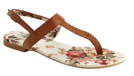 Matalan Tan Flat Sandals