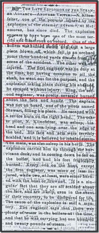 Klinefelter_TheWheelingDailyIntelligencer_5 Feb1862_pg 3