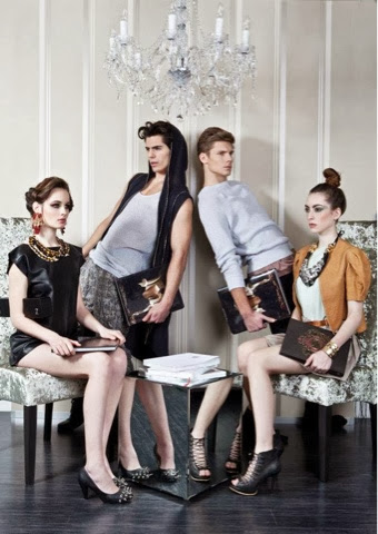Fashion editorial  male models and female models