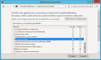 Activar acceso remoto por Terminal Server o Escritorio Remoto a servidor Windows Server 2012 W2012